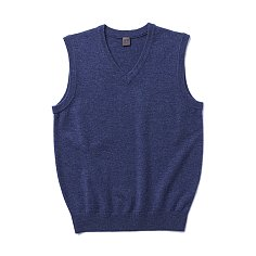 Pullover V Vest (Cashmere Blended)_Mint blue