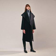 Cashmere Cape-Collar Coat