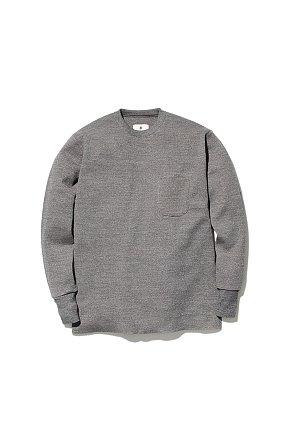 Wool Linen/Pe Crewneck Long Sleeve 스노우피크 크루넥 롱 슬리브 그레이