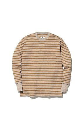 Wool Linen/Pe Crewneck Long Sleeve 스노우피크 크루넥 롱 슬리브 오트밀-머스타드