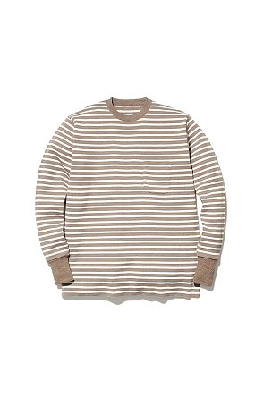Wool Linen/Pe Crewneck Long Sleeve 스노우피크 크루넥 롱 슬리브 브라운-화이트
