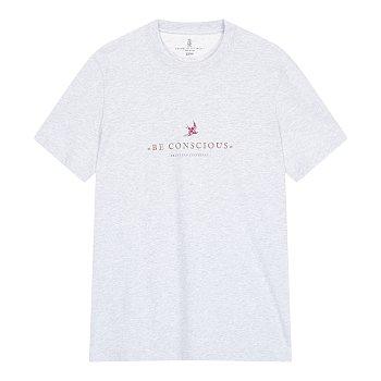 프론트 그래픽 슬림 핏 티셔츠