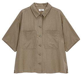 투포켓 셔츠