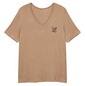 소프티 자수 로고 티셔츠