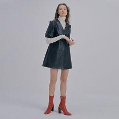 Leather Mini Dress_Black