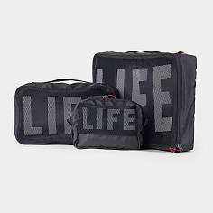 [LIFE x RAWROW] LIFExR PACKABLE POUCH 506 SET_BLACK 라이프 로우로우 여행용 파우치