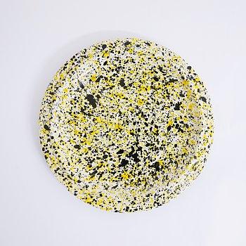 [Fabrik Pottery] 스플래쉬 런치 플레이트 Yellow & Black (BOONTHESHOP Exclusive)