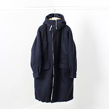 THE DOCUMENT WOOL PARKA - NAVY / YELLOW