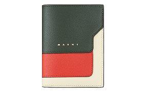 컬러 배색 폴드 지갑