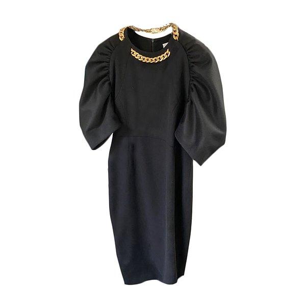 ★유진 착용★Shirring Sleeve Dress with Chain Necklace