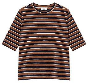 카멜 멀티스트라이프 티셔츠