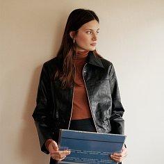 Matinee Vegan-leather Crop Zip-up Jacket_Black