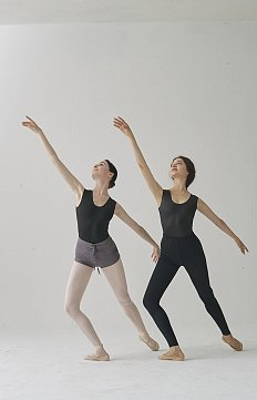 GLOSSY BLACK/MAT BLACK REVERSIBLE DANCE LEOTARD