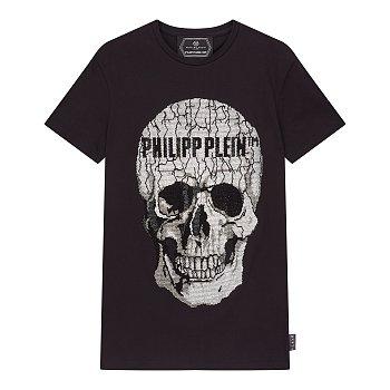핫피스 스컬 로고 티셔츠