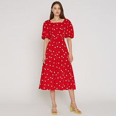 LORI DRESS, RED