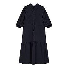★3차 리오더★ 투 포켓 퍼프 슬리브 셔츠 원피스
