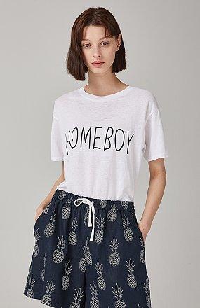 HOMEBOY 레터링 티셔츠