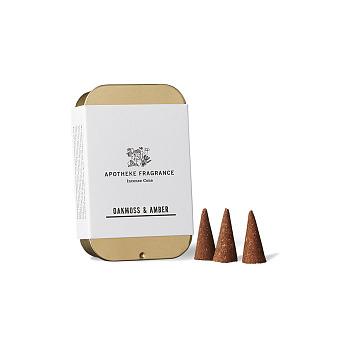[Apotheke Fragrance] 인센스 콘 Oakmoss & Amber