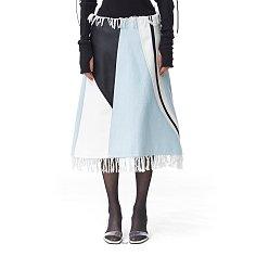 Denim Moss Skirt