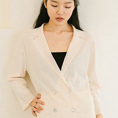 LIGHT BEIGE ECO VISCOSE KNIT JACKET