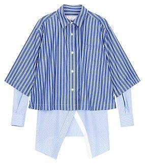 코튼 포플린 스트라이프 셔츠