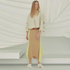 Carol Jersey Skirt (Beige)