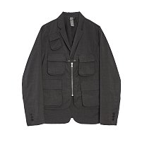 LAYERED JACKET - CHARCOAL