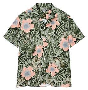 [Men Collection] 비스코스 프린트 숏 슬리브 리조트 셔츠