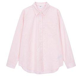 ★갭 여성 21년 SPRING★ 린넨 블렌드 원 포켓 셔츠