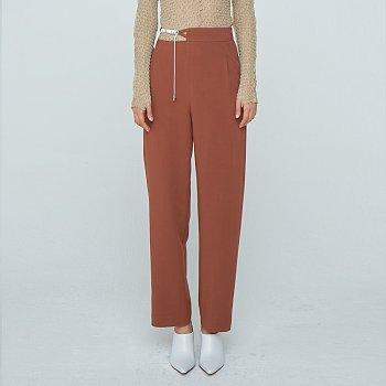Waist Strap Trousers / Brown