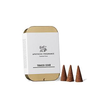 [Apotheke Fragrance] 인센스 콘 Tobacco Cedar