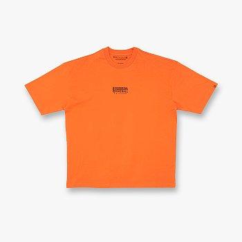 유니버셜 오버롤 로고 티셔츠 오렌지