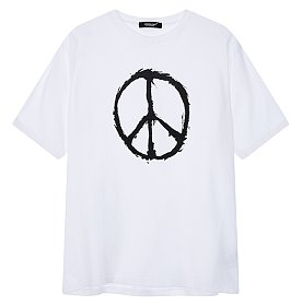 [Undercover] YOSHIE TOMINAGA X PATTI SMITH 피스 프린트 크루넥 티셔츠 (남성)