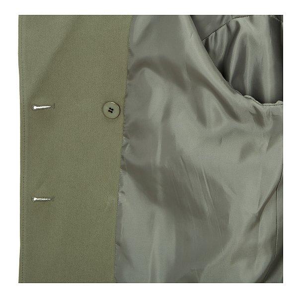 더블 버튼 숏 코튼 자켓