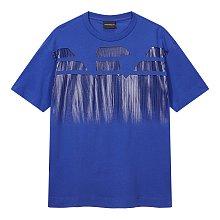 스트라이프 이글 로고 티셔츠
