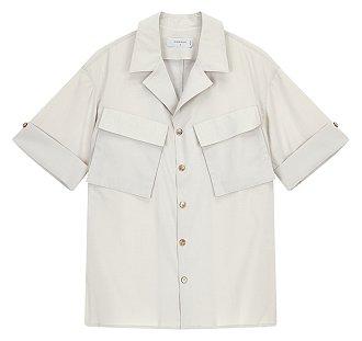 [CASUAL] 페이크 울 오픈카라 셔츠