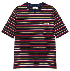 멀티스트라이프 하프슬리브 티셔츠