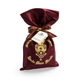 포푸리 로고 자수 실크 파우치 (와인)