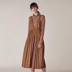 Fortuna string dress_Brown