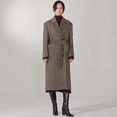 LE MUSEE_JANNET Premium Wool Herringbone Coat