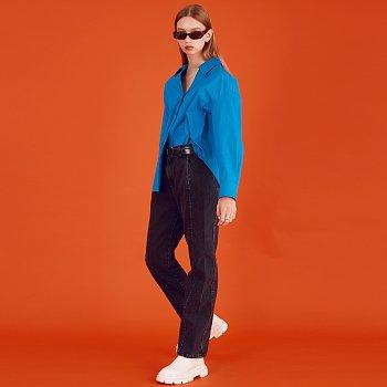 V-neck Collar Shirt_Blue