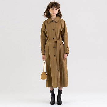 FW21 Washed Cotton Trench Bronze