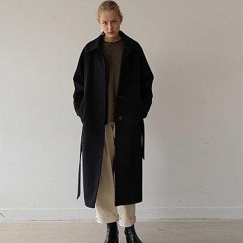 [ESSENTIAL] 캐시미어 Cashmere Single Coat Black