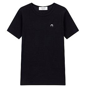 [Marine Serre] 크레센트 문 자수 티셔츠