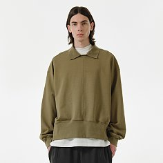 [SS21] WIDE COLLAR SWEATSHIRTS Olive