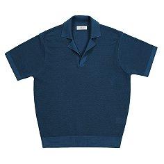 Texture Collar Knit (Blue)