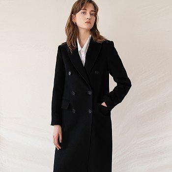 [엄현경 착용] FW19 Cashmere Double Breasted Coat Black