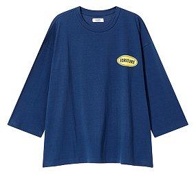 프린트 포인트 레글런 티셔츠