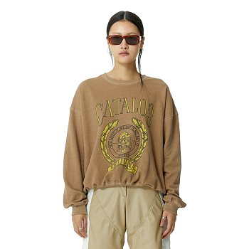 College Pullover Light Brown