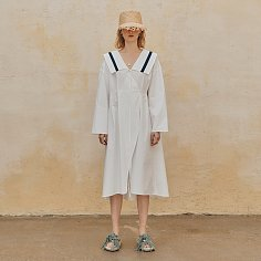Arang Sailor Collar Dress_White